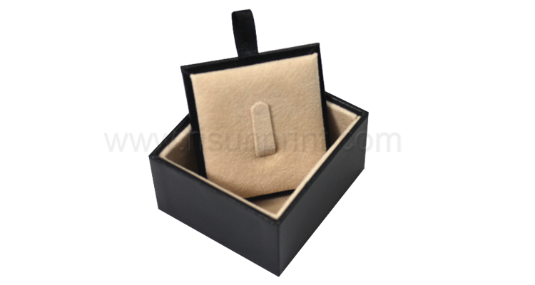 Black Leather Ring Jewelry Box