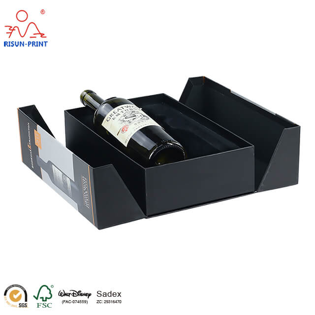 2 bottle wine box cardboard