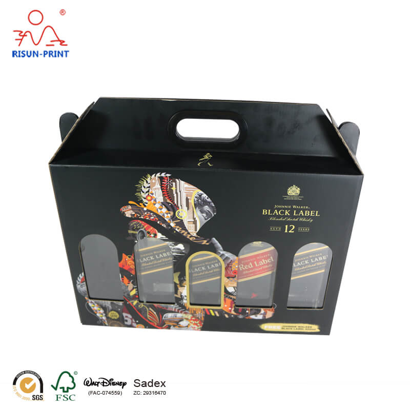Whisky Bottle Packaging Rigid Bar Box