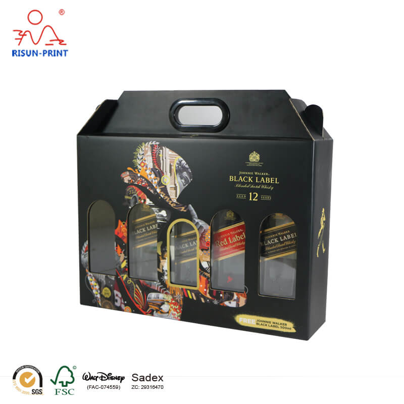 Elegant Bacardi Liquid Compartment Paper Box