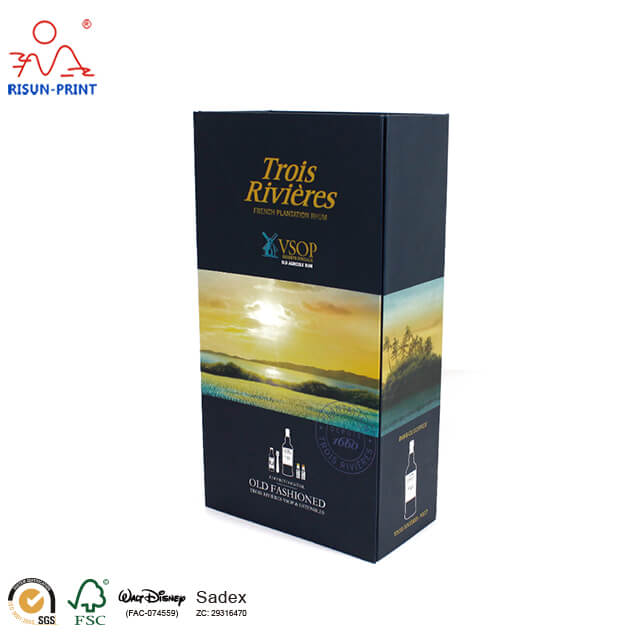 Customized Wholesale Wine Bottle Boxes