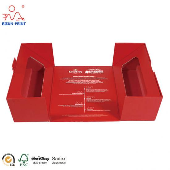 3 bottle red wine case box
